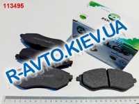 Колодки передние тормозные Zollex Aveo (ZCH64F), в уп-ке