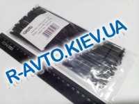 Хомут пластиковый 190х2.5 (100 шт. в уп.) черные, 1 УПАКОВКА