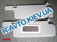Козырьки ВАЗ 2108 (белые) с зеркалом, пара