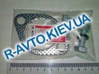 Прокладка глушителя (резонатора), Aveo Lacetti, Россия (с болтами, гайками, гроверами)