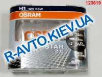 Лампа OSRAM H1 12v 55w Silverstar 2.0 (+ 60 %) (64150 SV2) пара