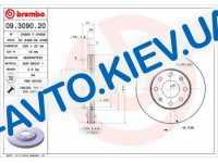 Диск тормозной передний  Brembo  (09.3090.20) Premium