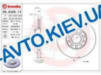 Диск тормозной передний D=288 c 11.2000г.  Brembo  (09.A428.14) Premium